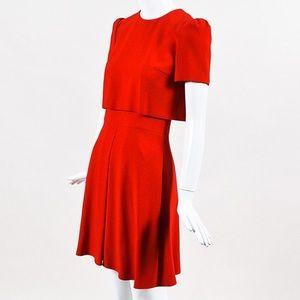 Alexander Mcqueen designer red dress